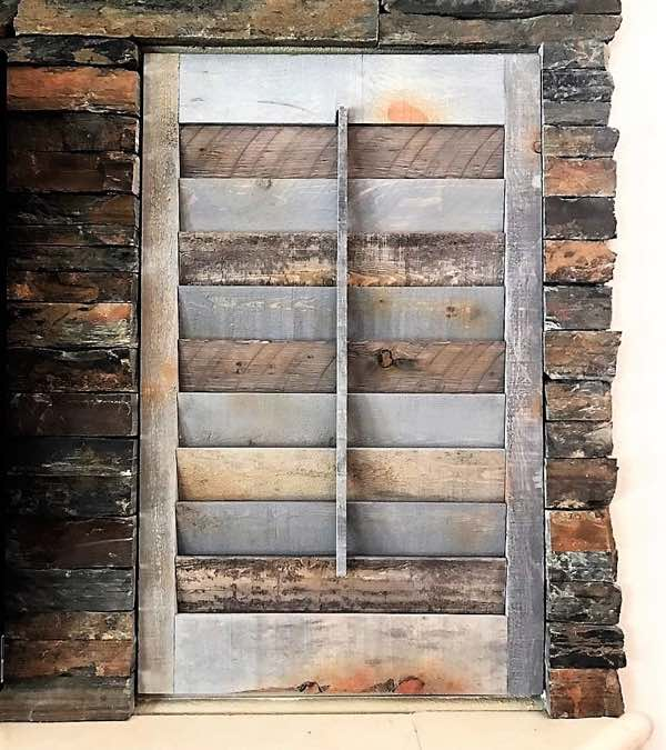 Phoenix recycled wood shutter