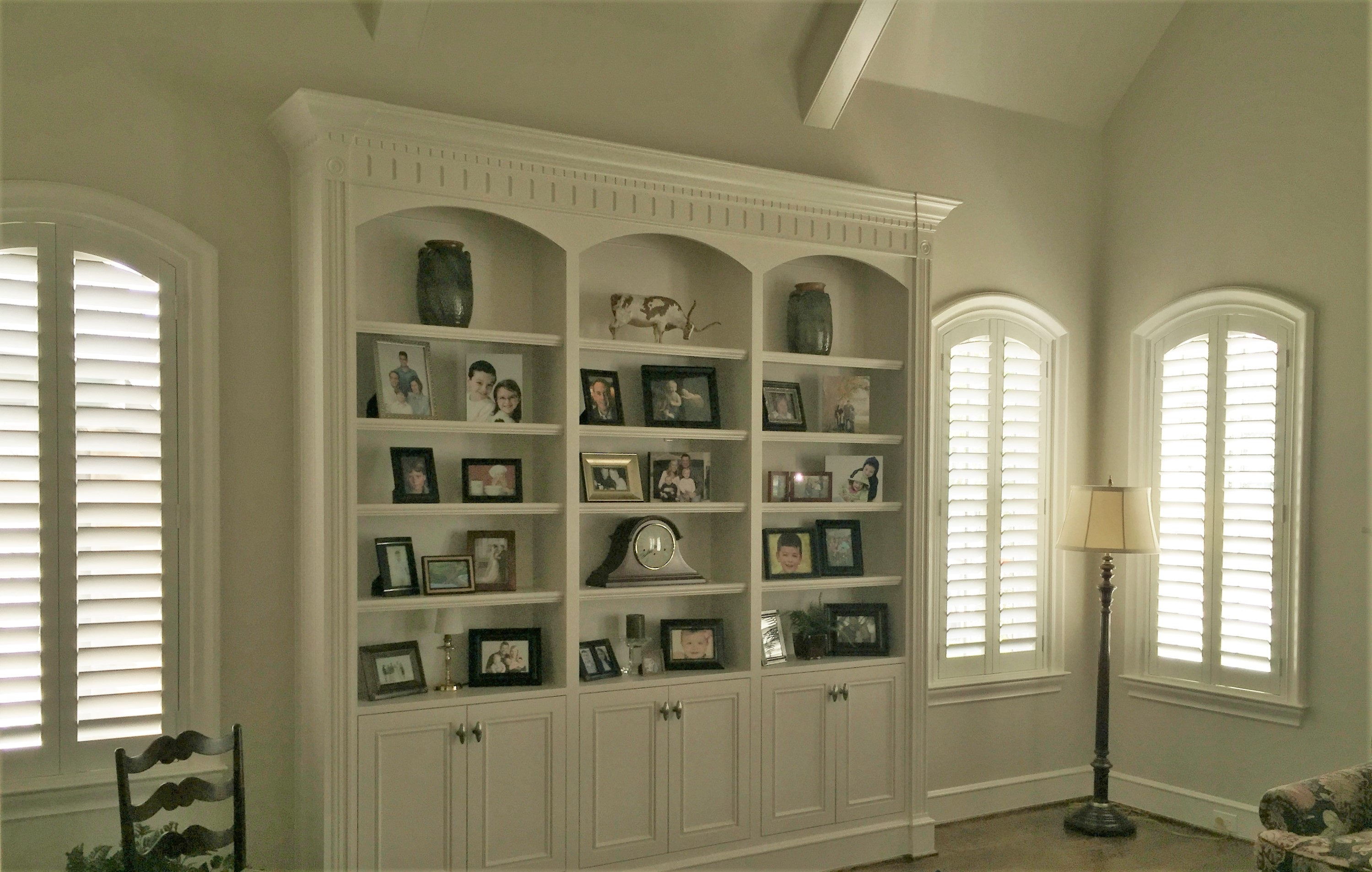 Specialty Shaped Windows Can Make A Statement And Shutters Let The Speak For Themselves