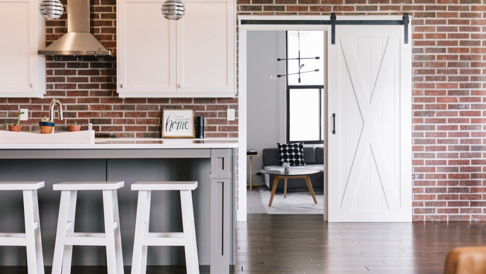 Phoenix exposed brick barn door