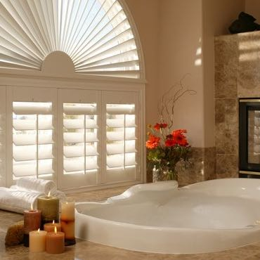 Phoenix bathroom privacy shutters.