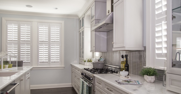 Phoenix kitchen white shutters