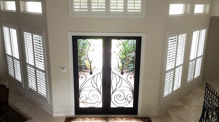 Phoenix entryway plantation shutters