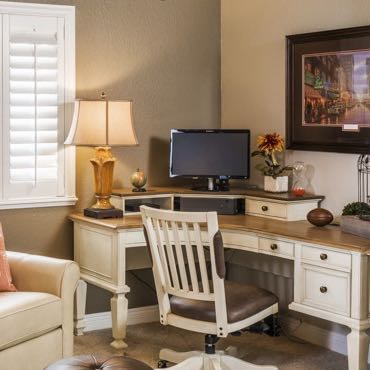 Phoenix home office window shutters.