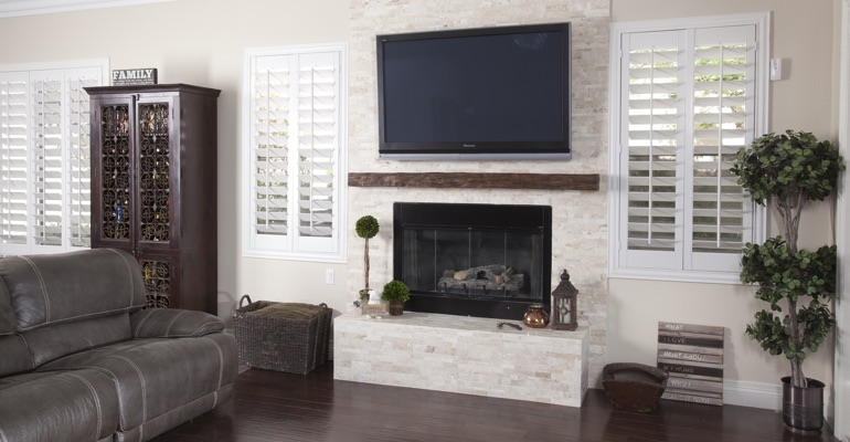 polywood shutters in Phoenix family room