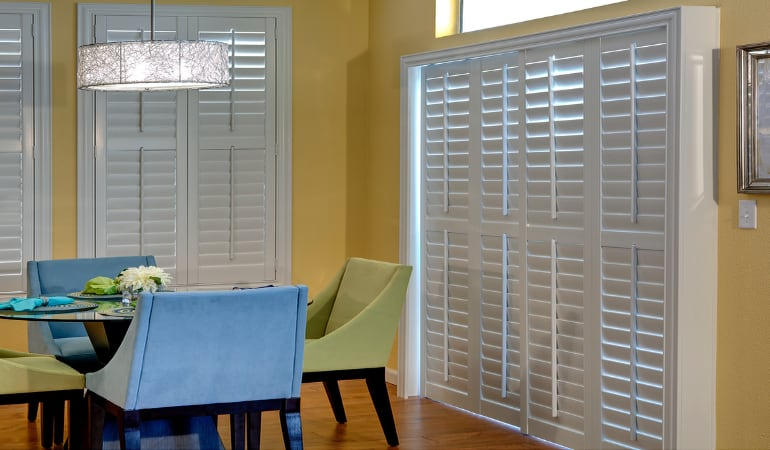 Patio Doors with Plantation Shutters in Phoenix