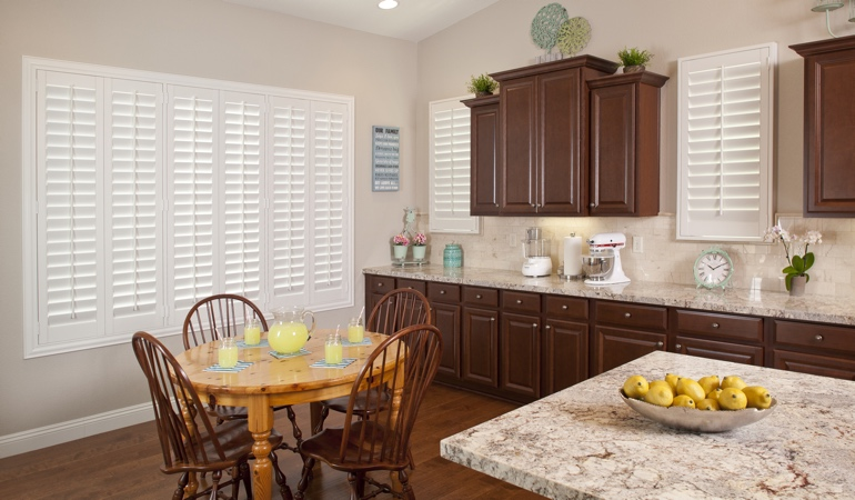 Polywood Shutters in Phoenix kitchen