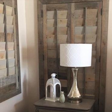 Reclaimed Wood Shutter Phoenix Bedroom