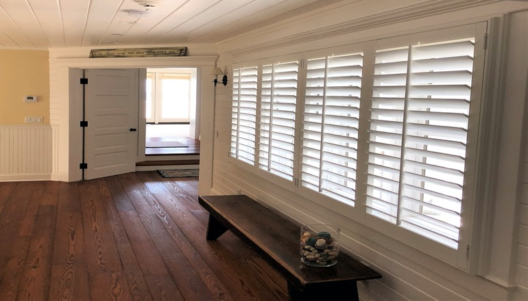 Faux wood plantation shutters in Phoenix