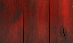 Barn door red finish