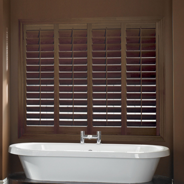 Chestnut Plantation Shutters Phoenix