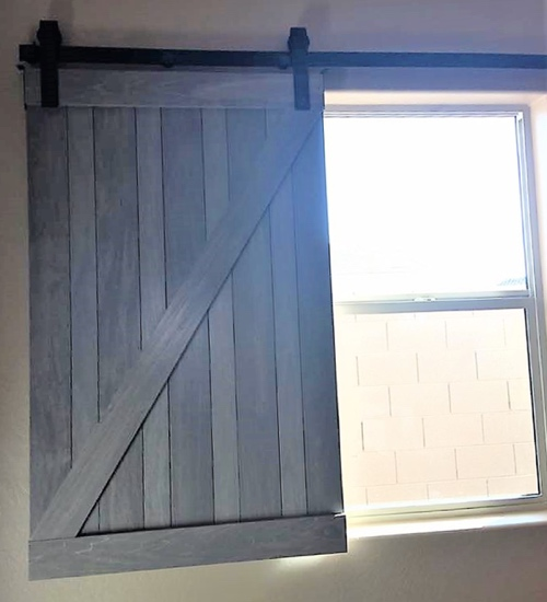 rustic barn door shutter