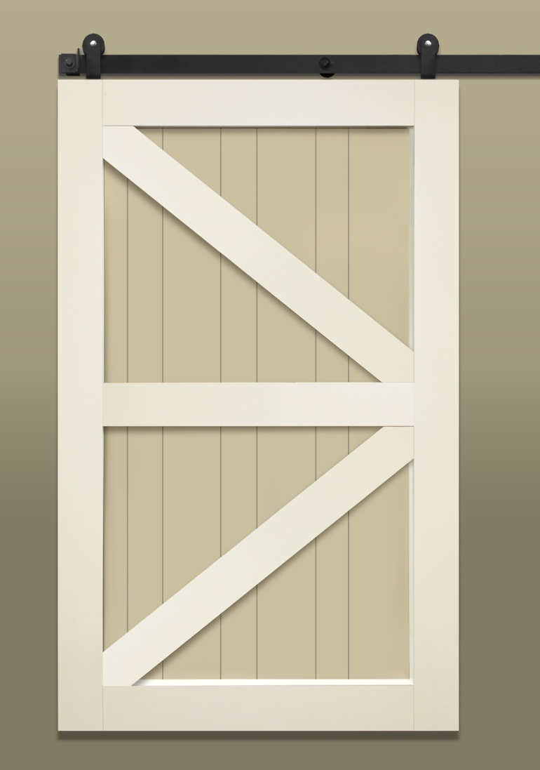 Stile & Rail With British Brace Barn Door