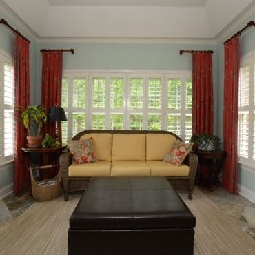 Phoenix sunroom window shutters.