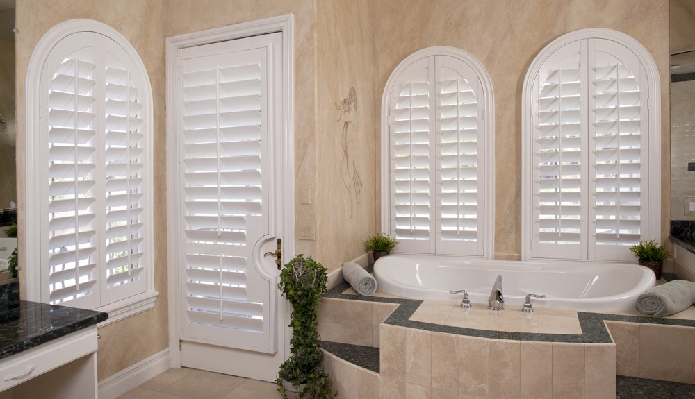 Arched Shutters In A Phoenix Bathroom