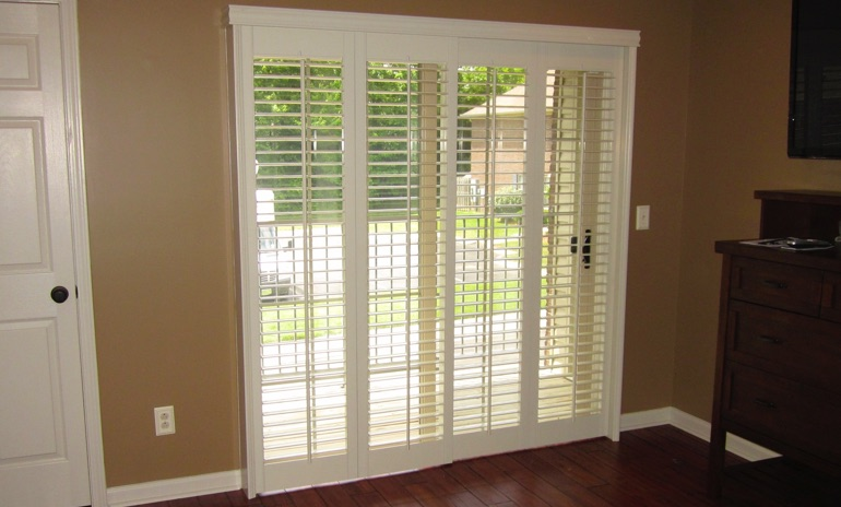 Sliding Glass Door Shutters In Phoenix Sunburst Shutters