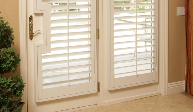 French Door Shutters. Square Handle Cutout : shutters door - Pezcame.Com