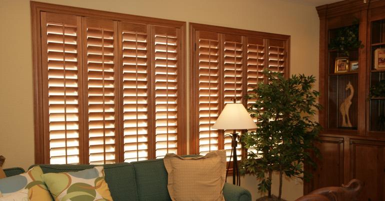 hardwood shutters in phoenix living room