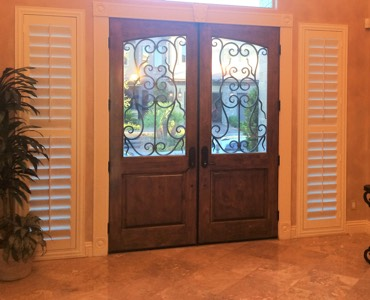 Phoenix sidelight window treatment shutter
