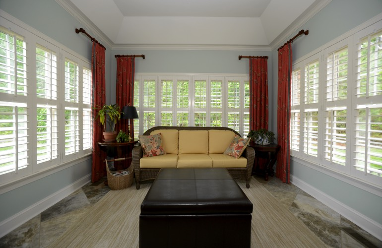 Plantation Shutters In A Phoenix Sunroom